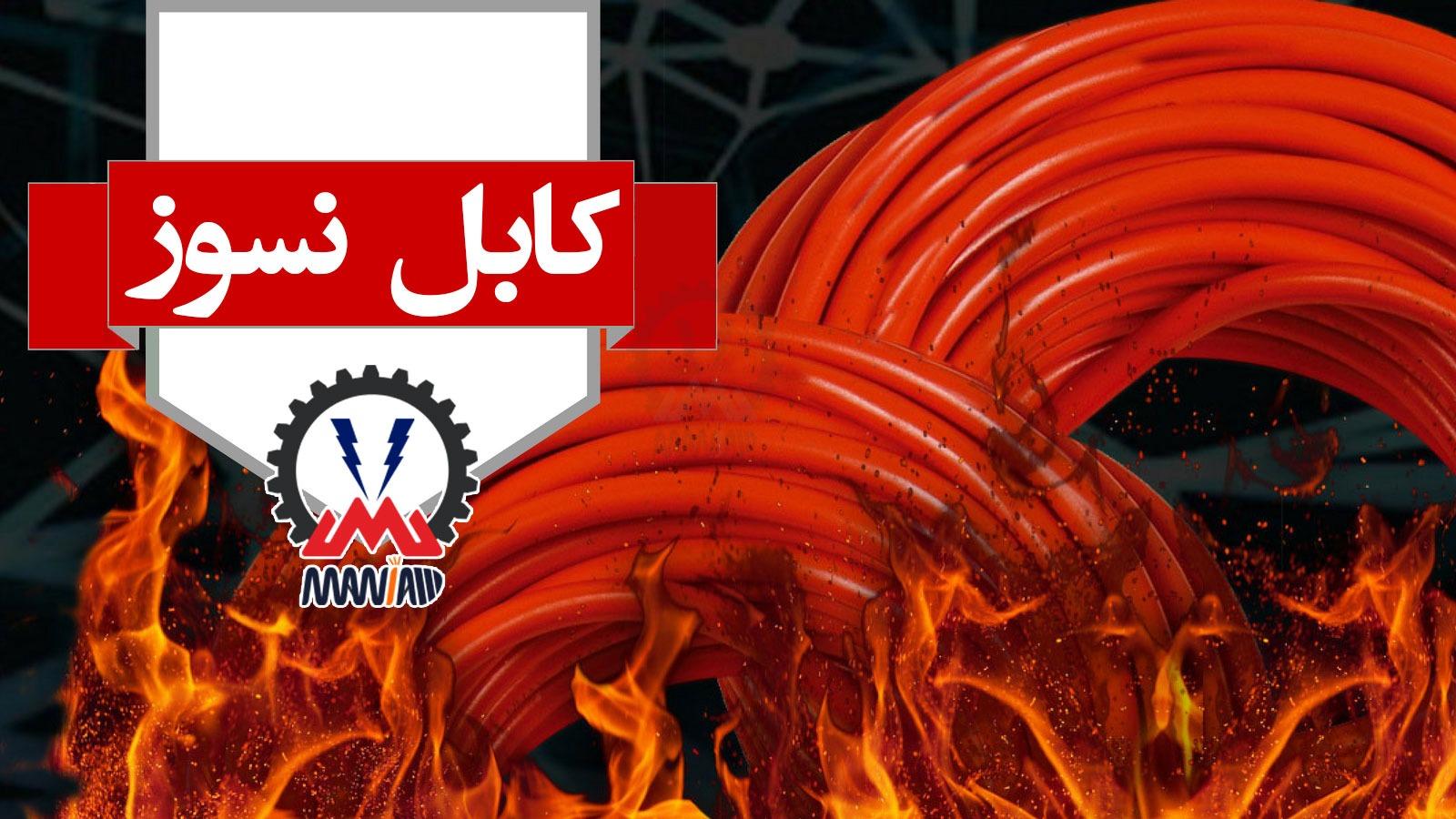 کابل نسوز ایرانی مقاوم در برابر حرارت